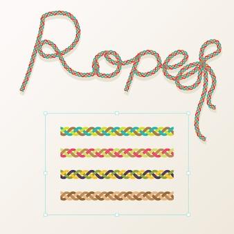 Set of rope braid design
