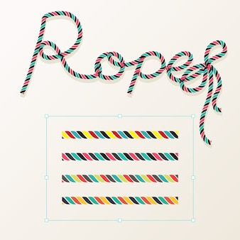 Set of rope vector with typography design