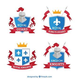 Set of royal knight emblems