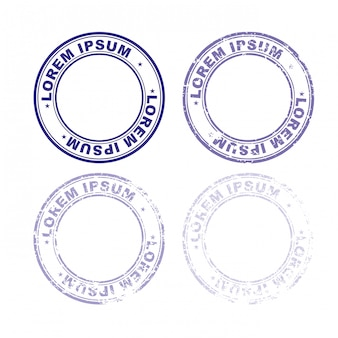 Set rubber stamp for documents.