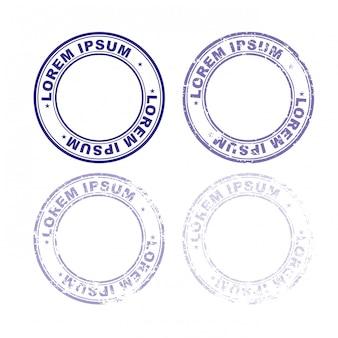 Установите резиновый штамп для документов.