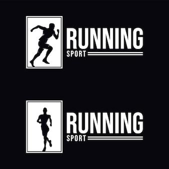 Set of running logo design