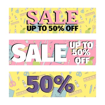 Set of sale banners promotion design