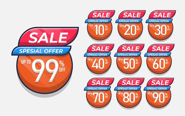 Set of sale discount price design