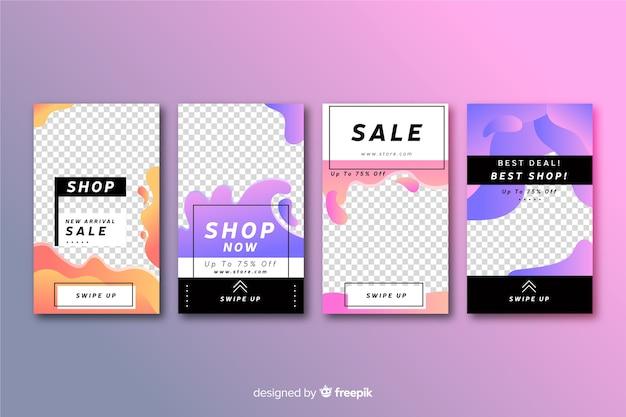 Set of  sale instagram stories