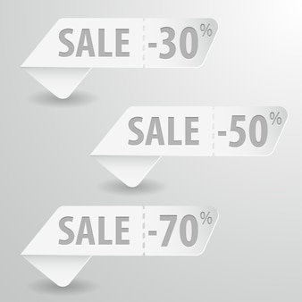 Set sale signs