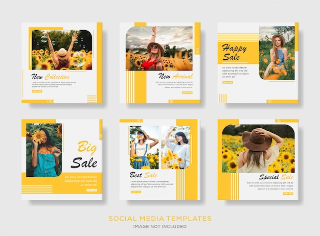 Set of sale social media banner template collection