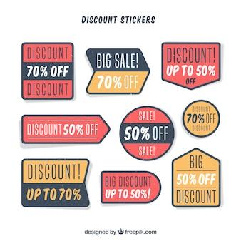 Set di adesivi di vendita