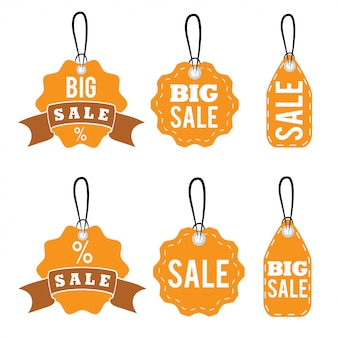 Set of sale tags design template