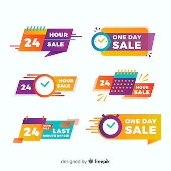 Set of sales countdown banners