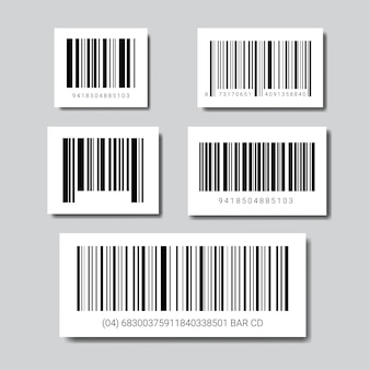 Set of sample bar codes for scanning icon