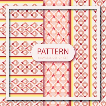 Set of saree seamless pattern wallpaper