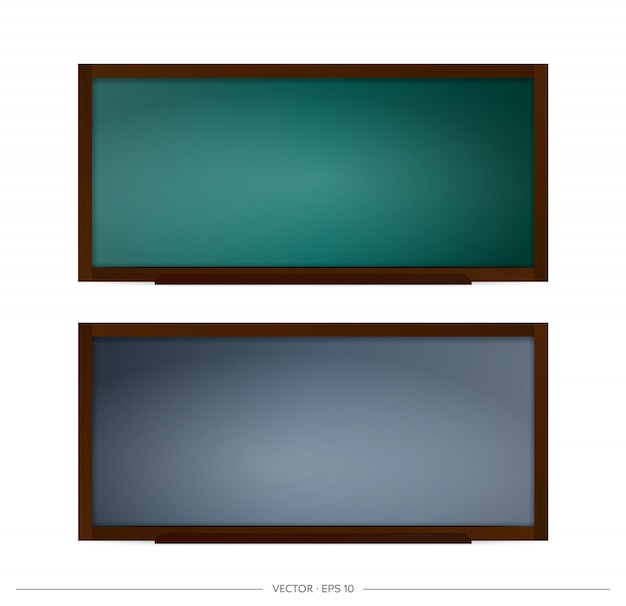 Set of school blackboard  . chalkboard with black and green backgrounds. element for design on a school or business theme.