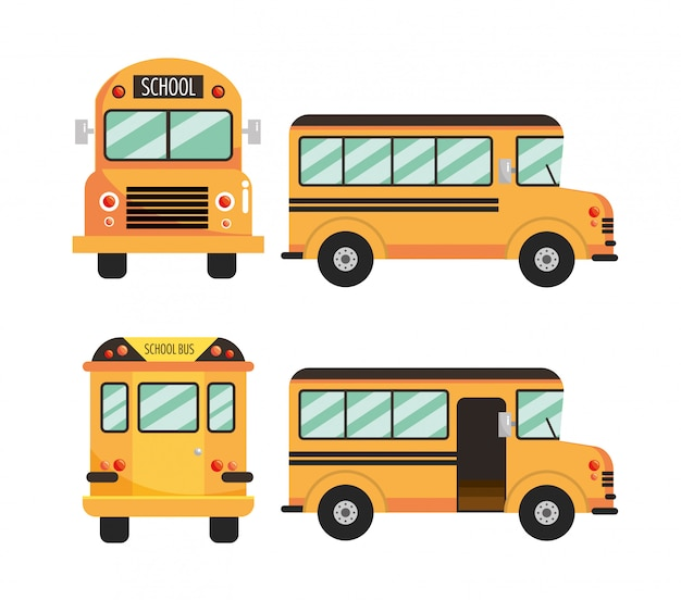 Set school bus education vehicle