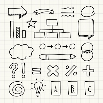 Set of school infographic elements