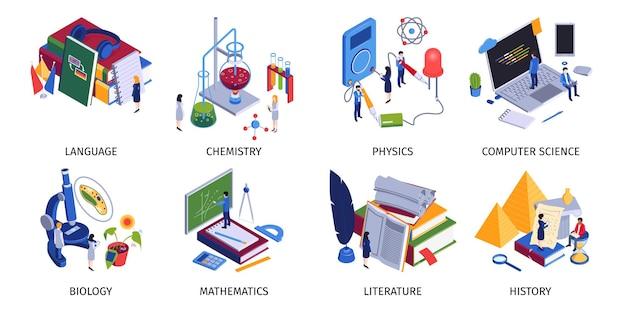 Set di materie scolastiche Vettore gratuito
