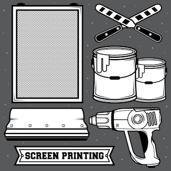 Set screen printing
