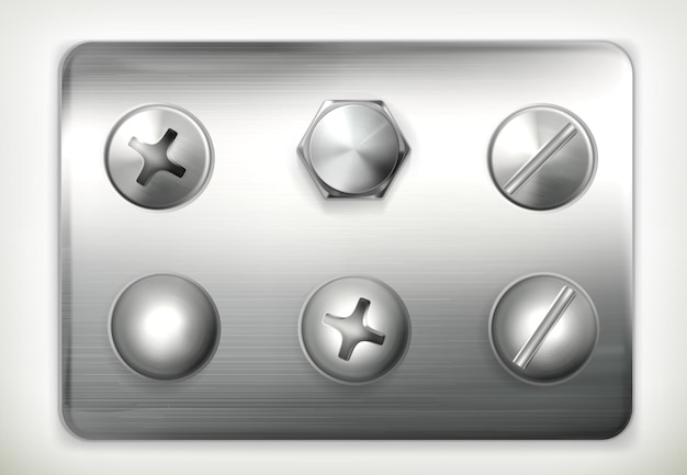 Set of screws,