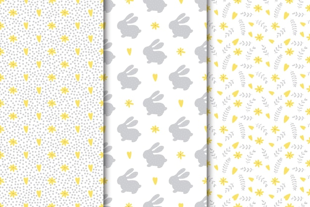Set of seamless easter patterns