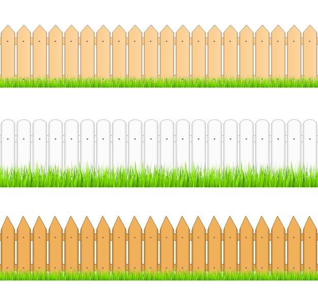 Set of seamless fences