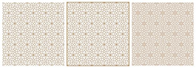 Set of seamless geometric ornament