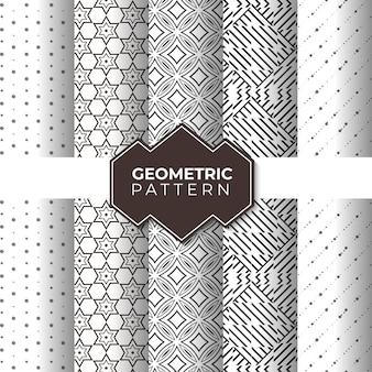 Set of seamless geometric patterns for wallpaper