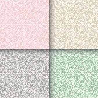 Set of seamless pattern floral background vector