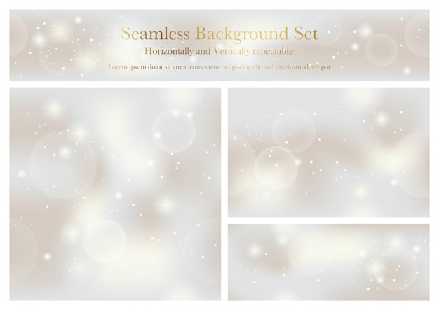 Set of seamless pattern vector abstract backgrounds. horizontally and vertically repeatable.