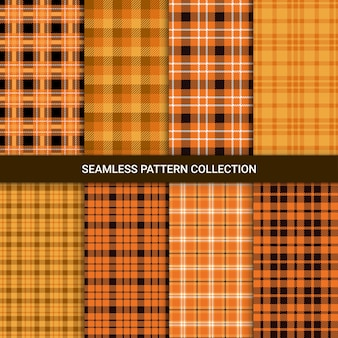 Set of seamless pattern with tartan plaid,