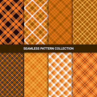Set of seamless pattern with tartan plaid