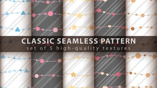Set seamless pattern