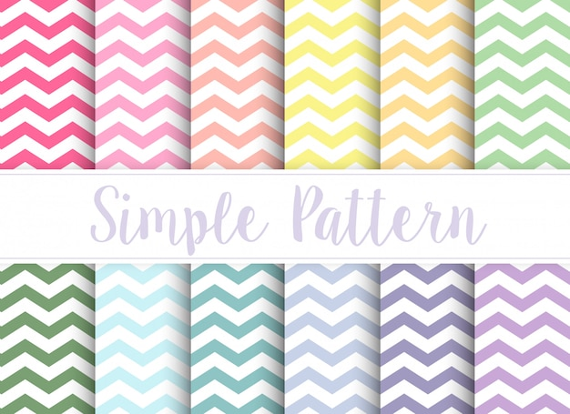 A set of seamless pattern