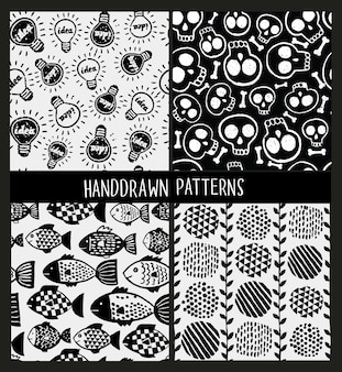 Set of seamless patterns on different lyers.