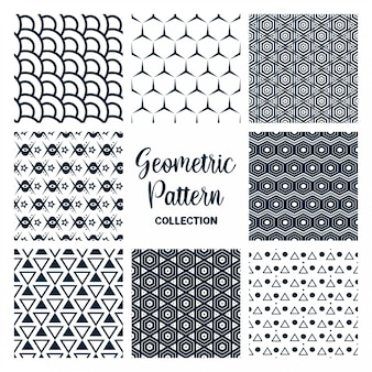 Set of seamless patterns vector design collection