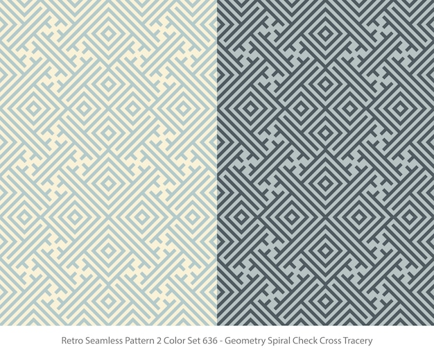 Set of seamless patterns with geometry tracery