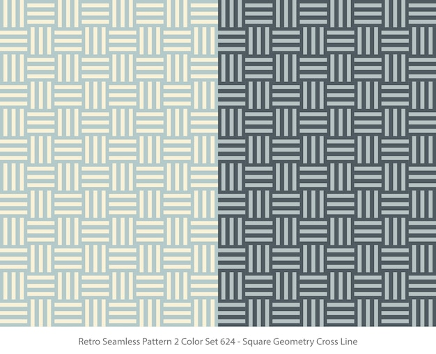 Set of seamless patterns with square geometry