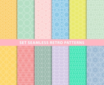 Set seamless retro patterns