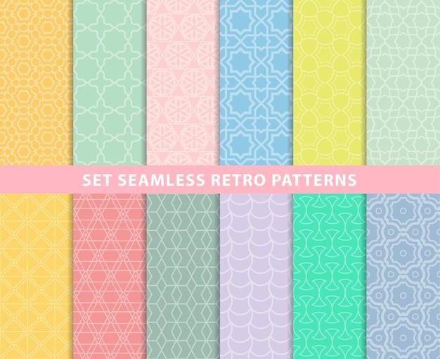 Set seamless retro patterns