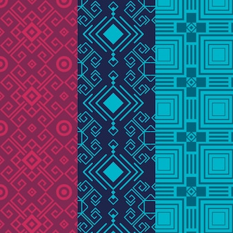 Set of seamless songket pattern