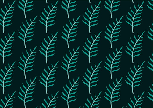 Set of seamless tropical leaves background premium vector