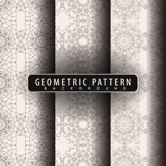Set of seamless vintage pattern