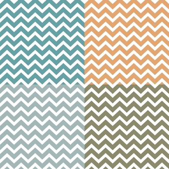 Set of seamless zigzag (chevron) patterns
