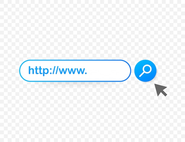 Set search bar element, set of search boxes ui template isolated