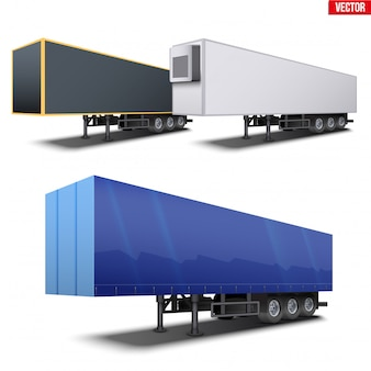 Set of semi trailers