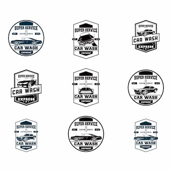 Set of set of car wash logo