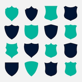 Set of shield symbols and icons design