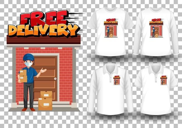 Set di camicia con tema di consegna