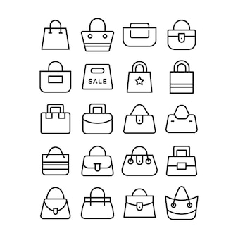 Set of shopping bag icons
