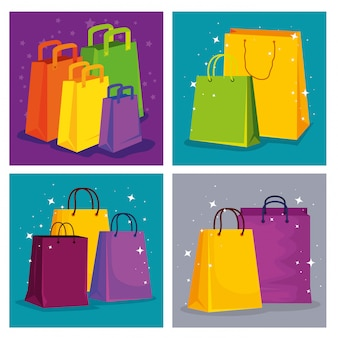 Set shopping bags to special sale price