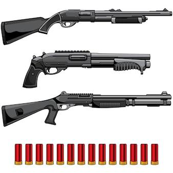 Set of shotgun